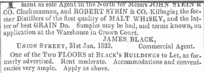 Aberdeen Journal 6th February 1833